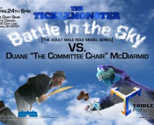 The Ticklemonster Battle in the Sky [the adult male role model series]
